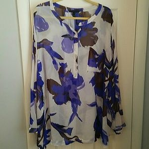Beautiful Sheer Lane Bryant Blouse